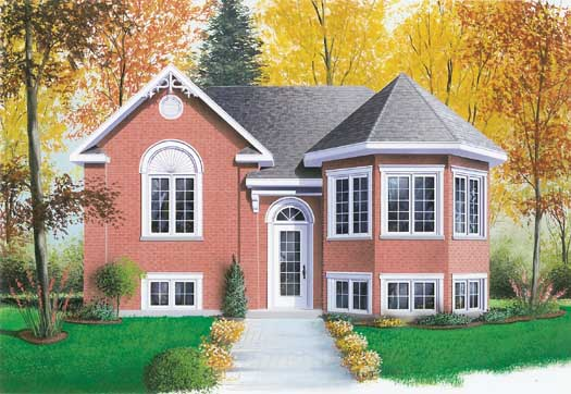 Traditional Style Home Design Plan: 5-224