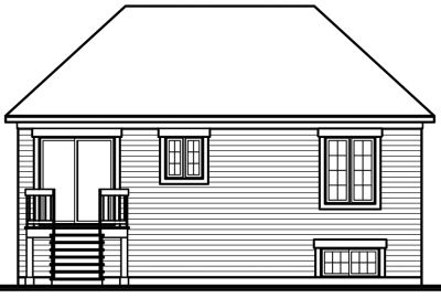 Rear Elevation Plan: 5-224