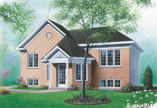 Traditional Style Home Design Plan: 5-225