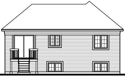 Rear Elevation Plan: 5-225