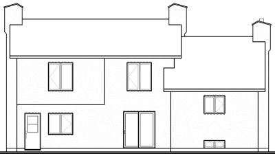Rear Elevation Plan: 5-227