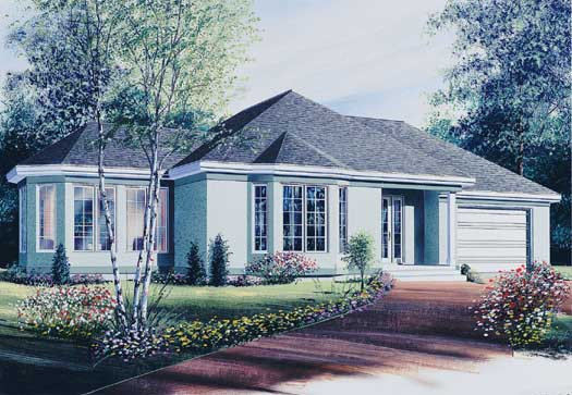 Traditional Style Home Design Plan: 5-228