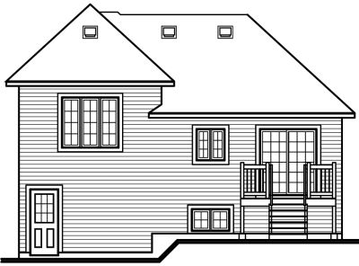 Rear Elevation Plan: 5-229
