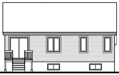 Rear Elevation Plan: 5-230