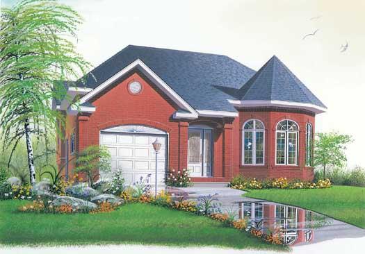 European Style Home Design Plan: 5-231