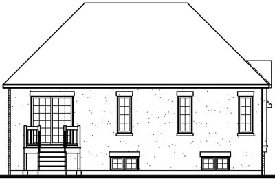 Rear Elevation Plan: 5-231