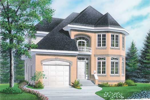 European Style House Plans Plan: 5-232