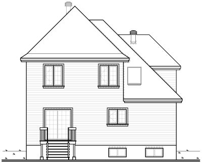 Rear Elevation Plan: 5-232