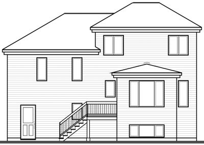 Rear Elevation Plan: 5-234