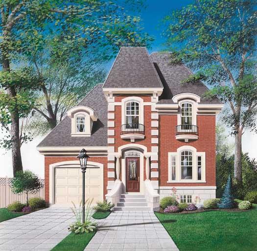 European Style Home Design Plan: 5-235