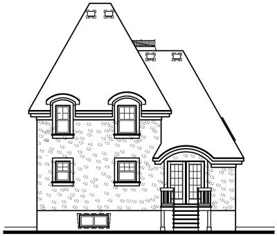 Rear Elevation Plan: 5-235