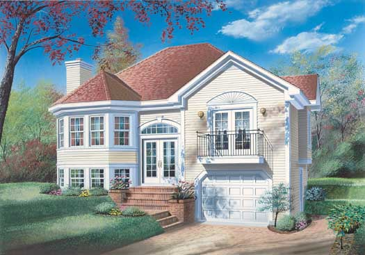 Traditional Style Home Design Plan: 5-236