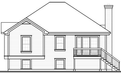 Rear Elevation Plan: 5-236