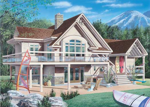 Traditional Style Home Design Plan: 5-237