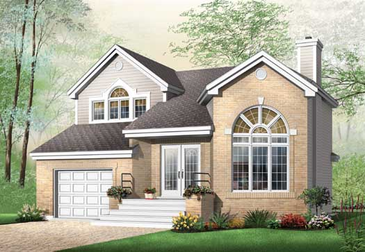 Traditional Style Home Design Plan: 5-240