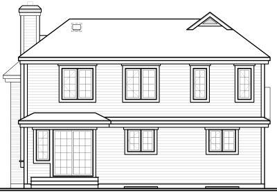 Rear Elevation Plan: 5-240