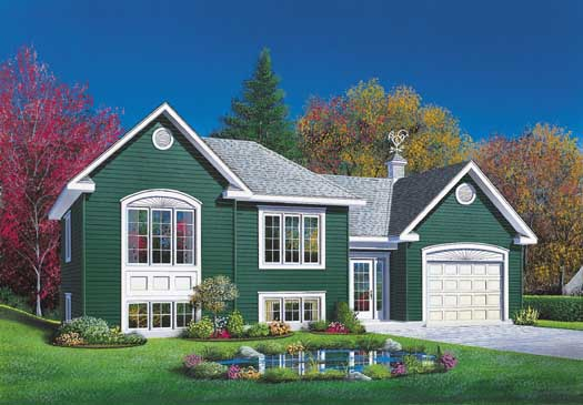Traditional Style Home Design Plan: 5-242
