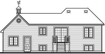 Rear Elevations Plan:5-242