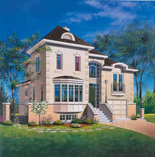 European Style House Plans Plan: 5-244
