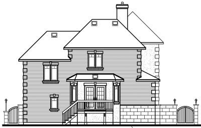 Rear Elevation Plan: 5-244