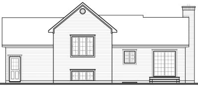 Rear Elevation Plan: 5-250