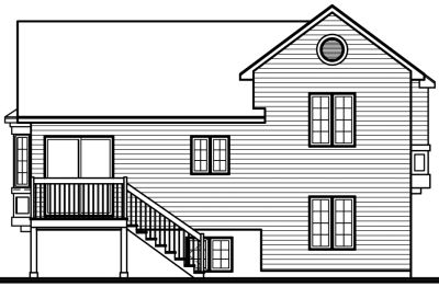 Rear Elevation Plan: 5-251