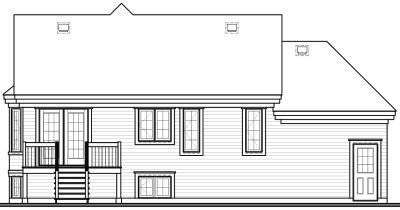 Rear Elevation Plan: 5-252