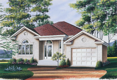 European Style Home Design Plan: 5-254