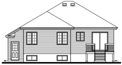 Rear Elevation Plan: 5-254