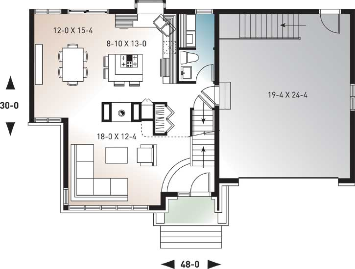 Main Floor Plan: 5-256
