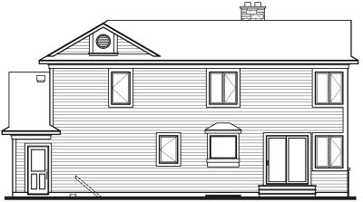 Rear Elevation Plan: 5-256