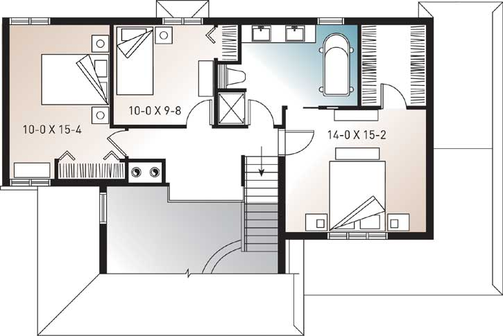 Upper/Second Floor Plan: 5-256
