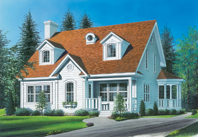 Cape-cod Style Floor Plans 5-257