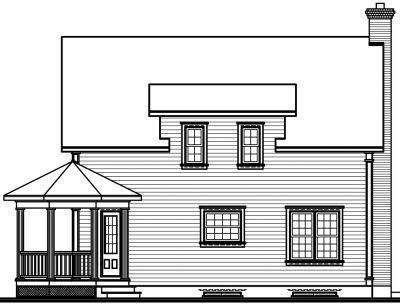 Rear Elevation Plan: 5-257