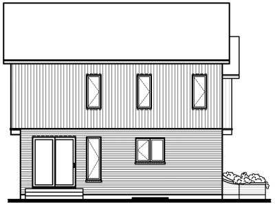 Rear Elevation Plan: 5-259
