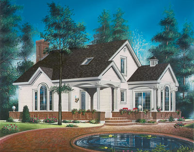 Traditional Style Home Design Plan: 5-260