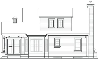Rear Elevation Plan: 5-260