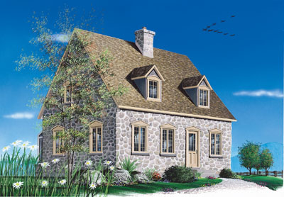 English-country Style Home Design Plan: 5-261
