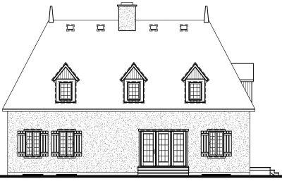 Rear Elevation Plan: 5-262