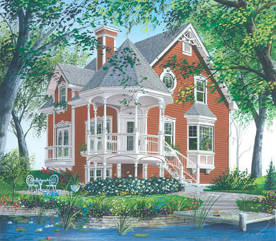 Victorian Style House Plans Plan: 5-263