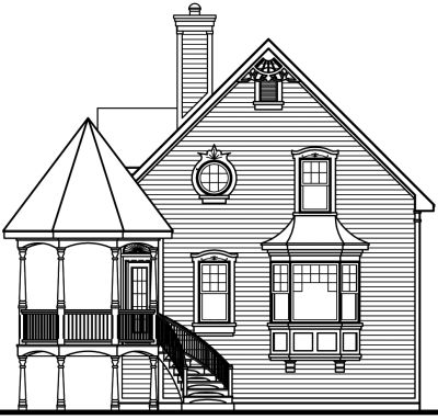 Rear Elevation Plan: 5-263