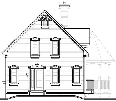 Rear Elevation Plan: 5-264