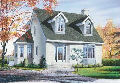 Cape-cod Style Floor Plans Plan: 5-265