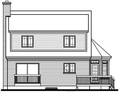 Rear Elevation Plan: 5-265