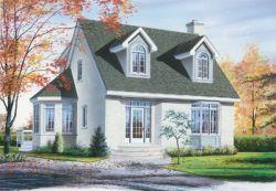 Cape-Cod Style House Plans Plan: 5-265