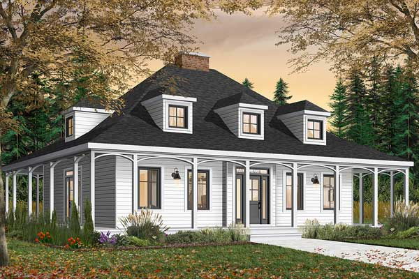 Country Style Home Design Plan: 5-267