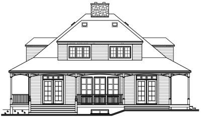 Rear Elevation Plan: 5-267