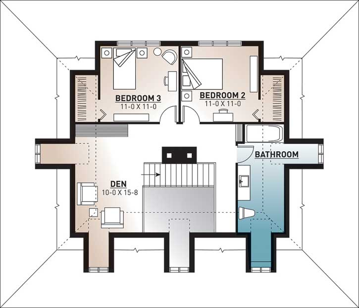 Upper/Second Floor Plan: 5-267