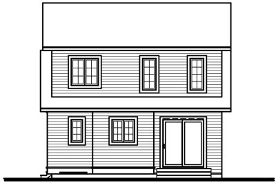 Rear Elevation Plan: 5-268