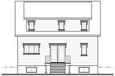 Rear Elevation Plan: 5-270
